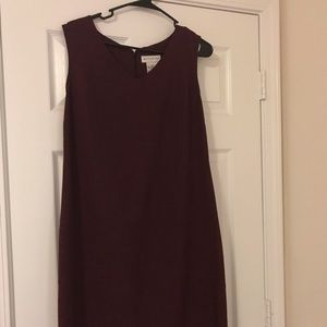 Women's Size 12 Business Apparel Burgundy Dress